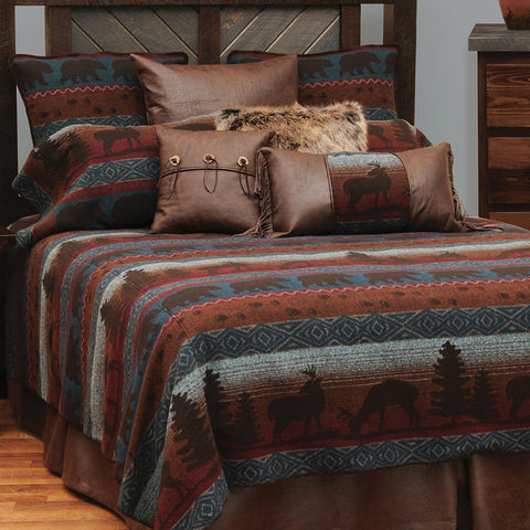 Deer Meadow Bedspreads Wooded River - Unique Linens Online