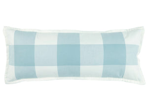 Checkers Aqua Large Boudoir Pillow Mystic Valley Traders - unique linens online