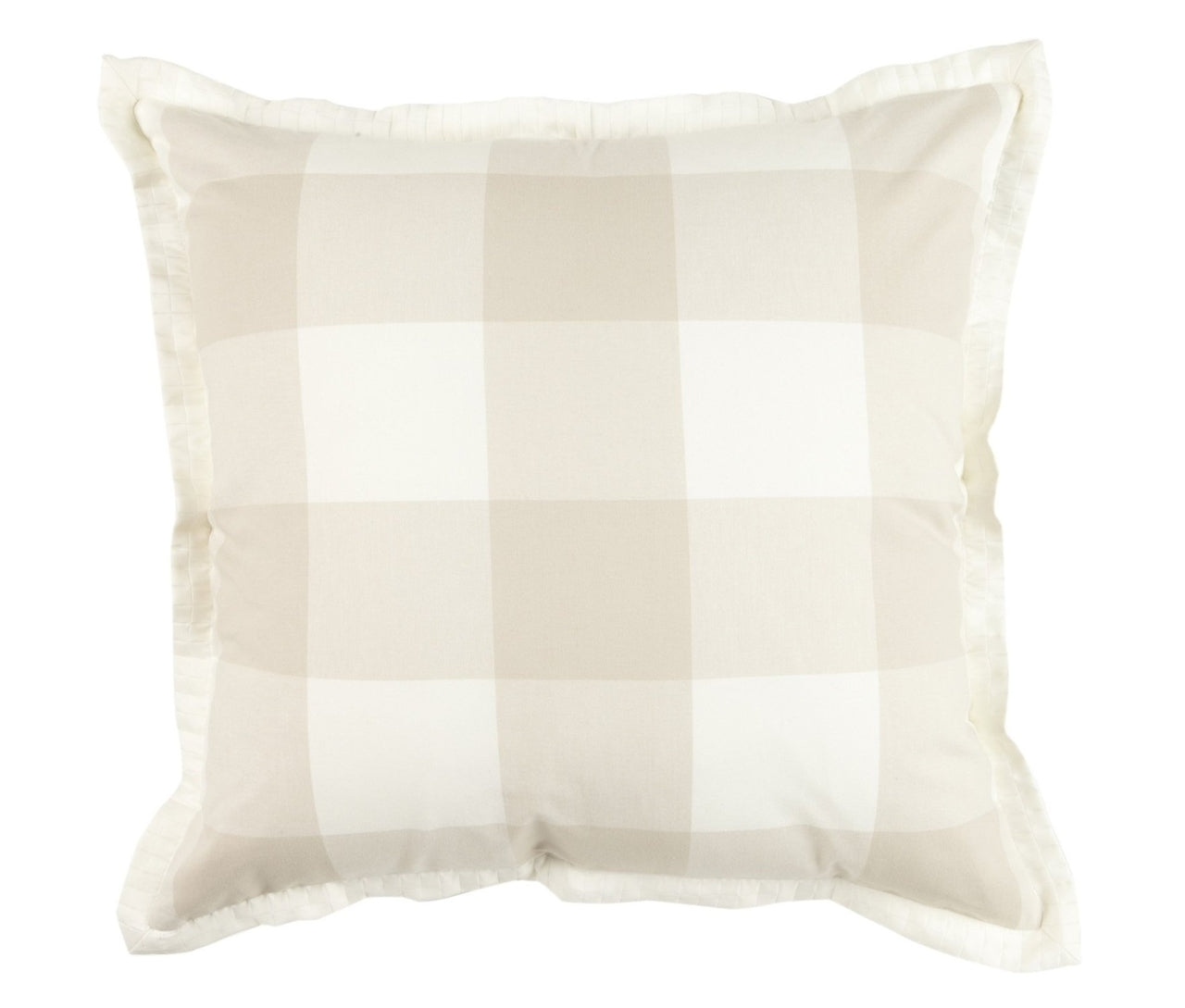 The Checkers Natural Euro Shams Mystic Valley Traders - unique linens online