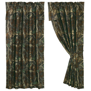 Oak Camo Drape Panel HiEnd Accents - unique linens online