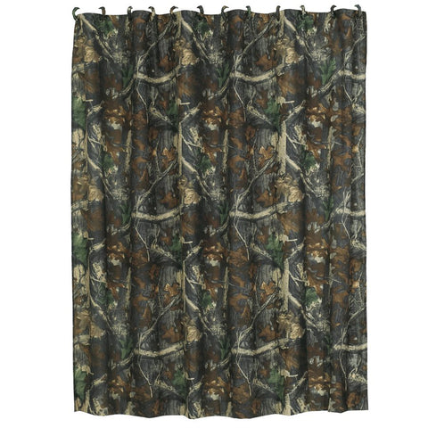 Oak Camo Shower Curtain HiEnd Accents