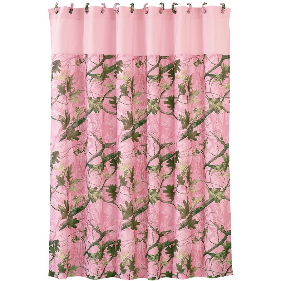 Pink Camo Shower Curtain HiEnd Accents