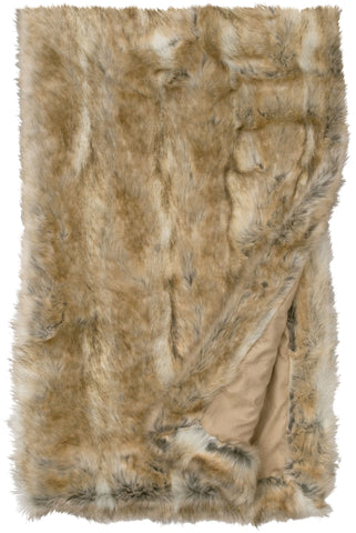Canadian Stone Fox Fur Throw Wooded River - Unique Linens Online