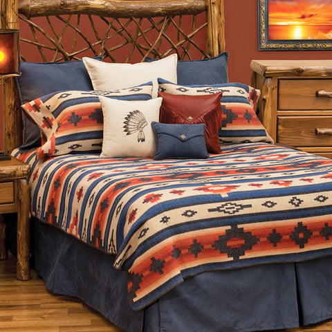 Redrock Canyon Bedspread Wooded River - Unique Linens Online