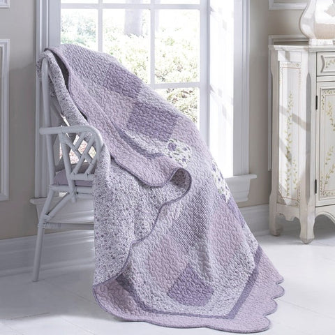 Lavender Rose Throw - unique linens online