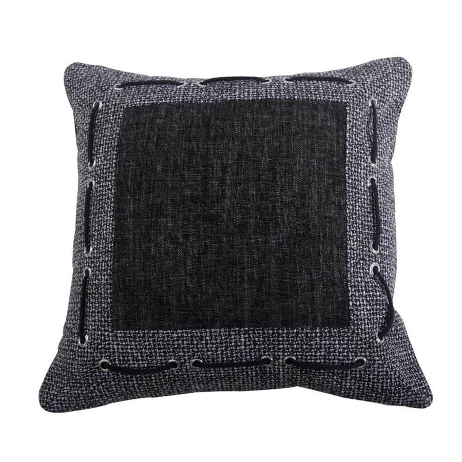 Charcoal Threads Accent Pillow - unique linens online