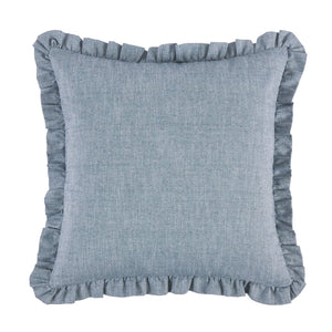 Blue Denim Ruffle Euro Sham HiEnd Accents - unique linens online