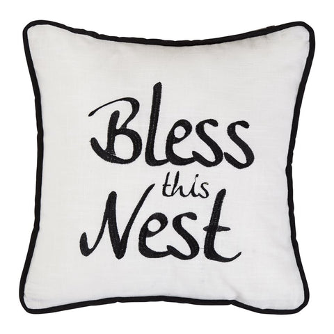 Bless This Nest Pillow HiEnd Accents - unique linens online