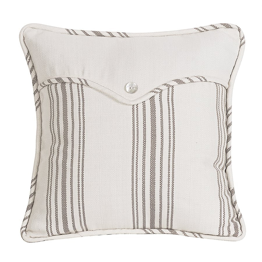 Wide Woven Stripe Envelope Pillow HiEnd Accents - unique linens online