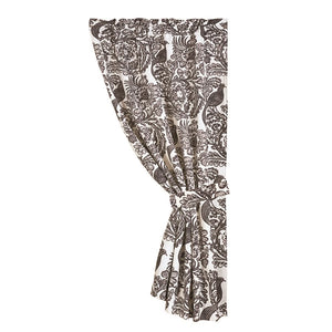 Augusta Black Bird Drapes HiEnd Accents - unique linens online