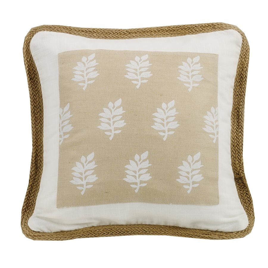 Newport Framed Accent Pillow HiEnd Accents - unique linens online