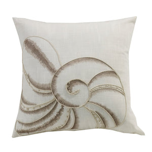 Newport Seashell Embroidery Pillow HiEnd Accents - Unique Linens Online