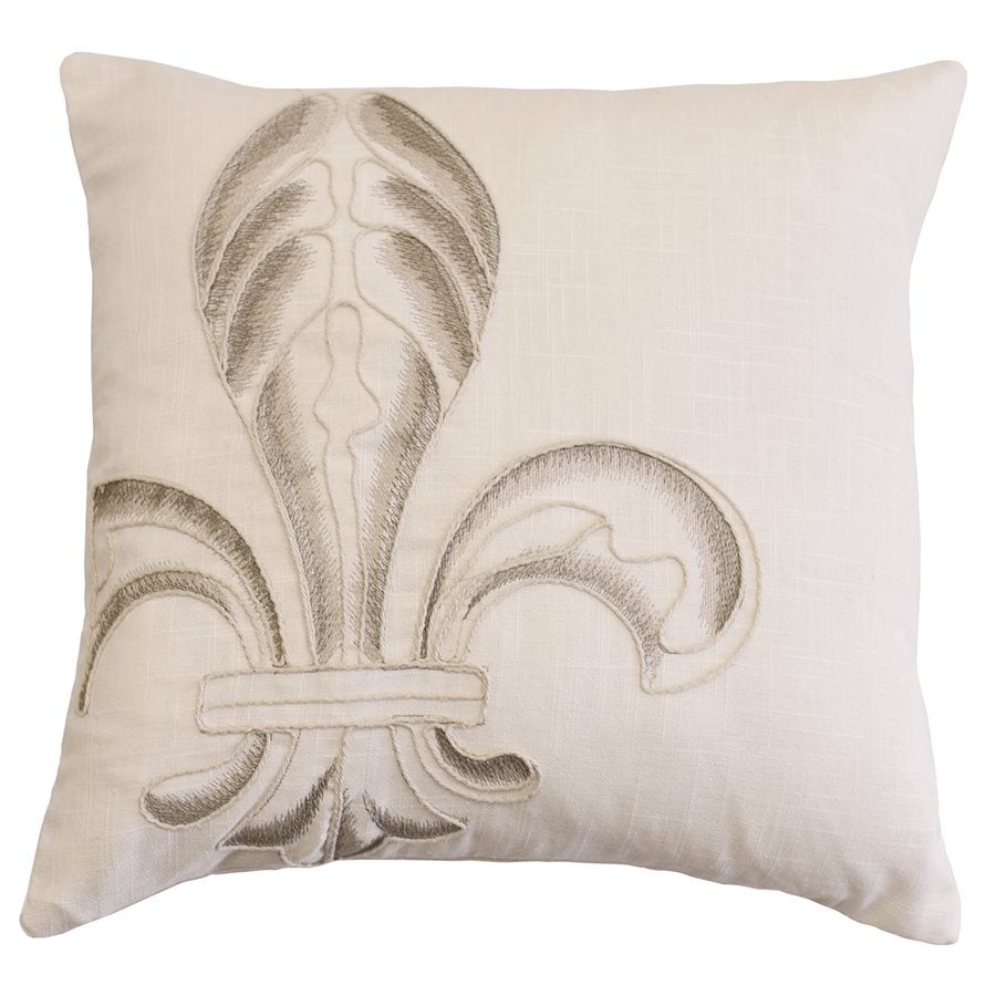 Newport Fleur-de-Lis Square Pillow HiEnd Accents