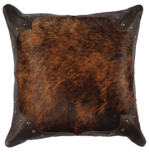 Leather Pillow Wooded River WD1498 - Unique Linens Online
