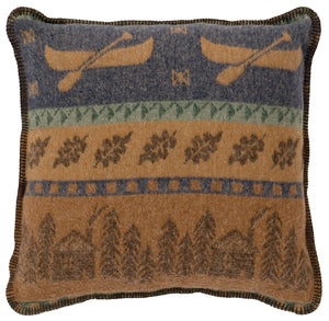 Lake Shore II Pillow Wooded River - unique linens online