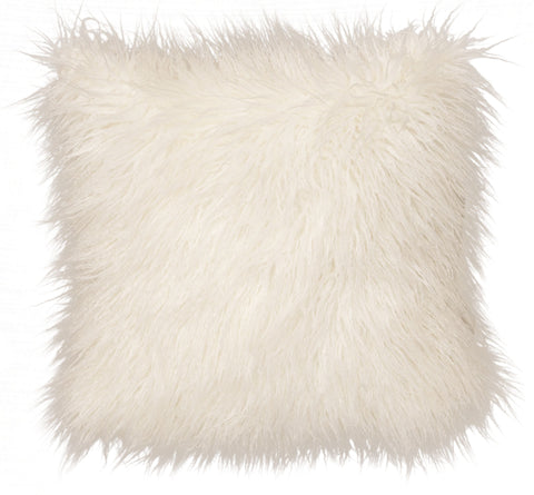 Llama Fur Pillow Wooded River - unique linens online