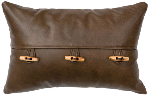 Leather Pillow Wooded River WD80210 - unique linens online