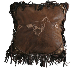 Embroidered Horse Pillow Carstens - unique linens online