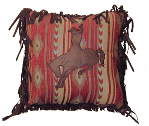 Flying Horse Bronco Pillow Carstens - unique linens online