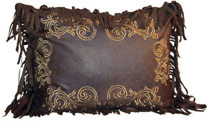 Embroidered Scroll Pillow Carstens - unique linens online