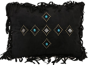 Gold Rush Black Diamond Pillow Carstens - unique linens online