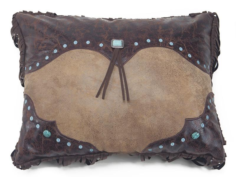 Western Curved Corner Pillow Carstens - unique linens online