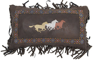Three Horses Pillow Carstens - unique linens online