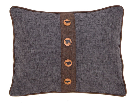 Rugged Earth Bear Pillow Carstens - unique linens online