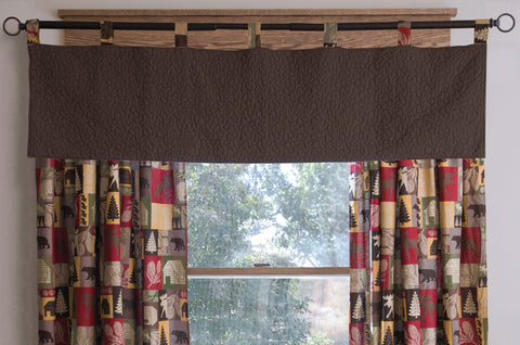 Cabin in the Woods Valance Carstens - unique linens online