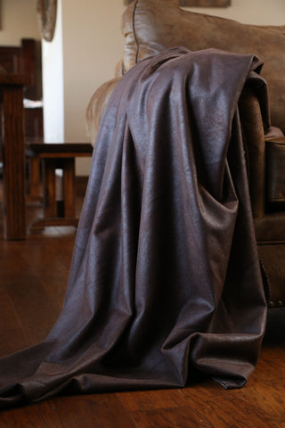 Chocolate Faux Throw Carstens - Unique Linens Online