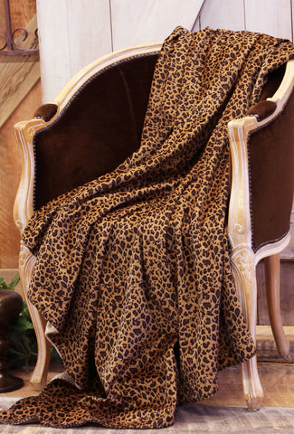 Leopard Throw Blanket Carstens - unique linens online