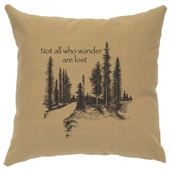Wander Decorative Linen Pillow Wooded River - Unique Linens Online