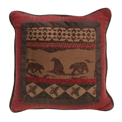 Bear Chenille Framed Pillows HiEnd Accents - unique linens online
