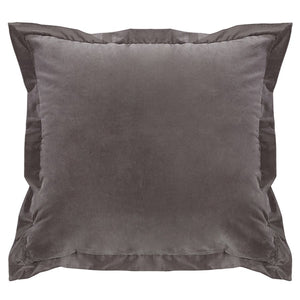 Whistler Gray Velvet Pillow HiEnd Accents - unique linens online