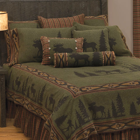 Moose 1 Bedspread Wooded River - unique linens online