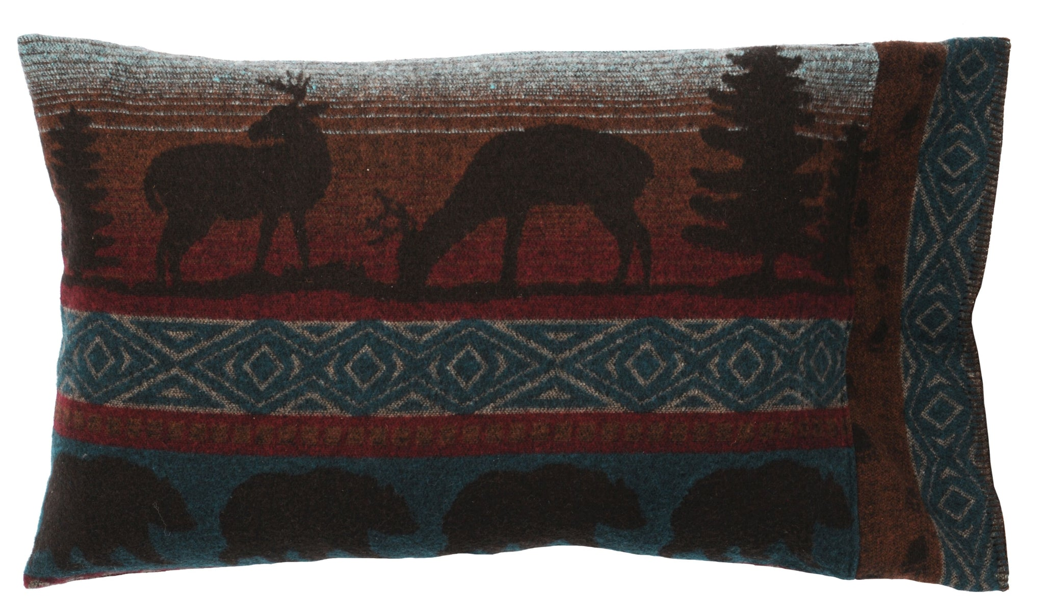 Deer Meadow Shams Wooded River - unique linens online