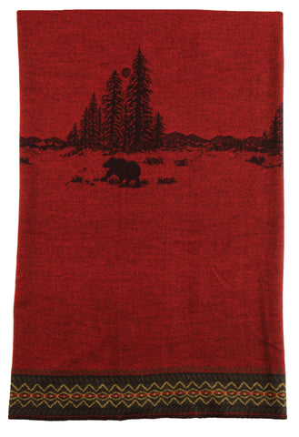 Wooded River Bear Throw Wooded River - unique linens online