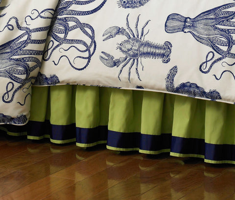 Ocean Bedskirt Mystic Valley Traders - unique linens online