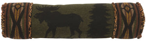 Moose 1 Neckroll Pillow Wooded River - unique linens online