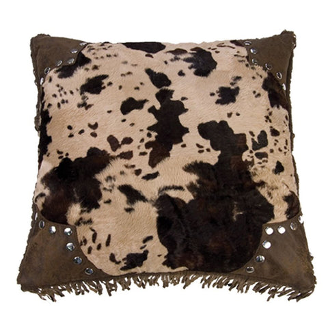 Caldwell Faux Cowhide Pillow HiEnd Accents - unique linens online