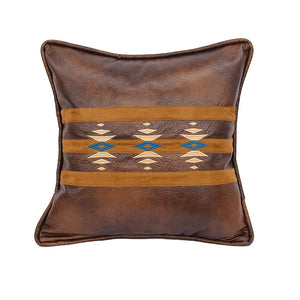 Southwestern Décor Faux Leather Pillow HiEnd Accents - unique linens online