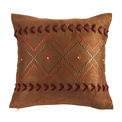 Solace Diamond Embroidery Decorative Pillow HiEnd Accents - unique linens online