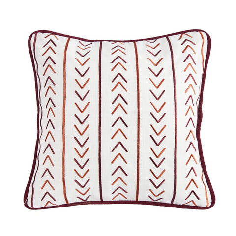 Solace Embroidered Decorative Pillow HiEnd Accents - unique linens online