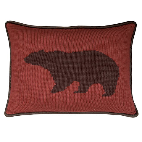 Bear On A Deep Red Background HiEnd Accents - unique linens online
