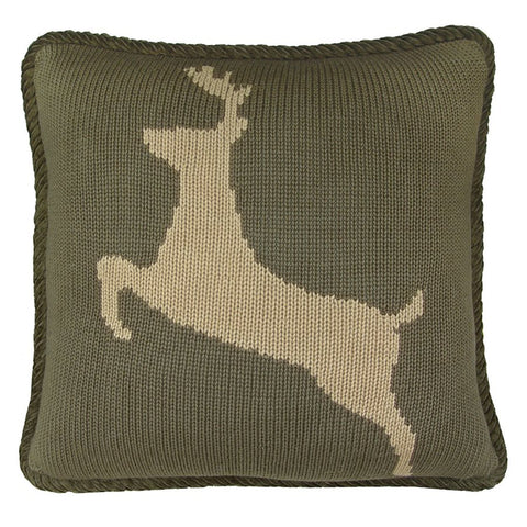 Deer Knit Pillow HiEnd Accents - unique linens online