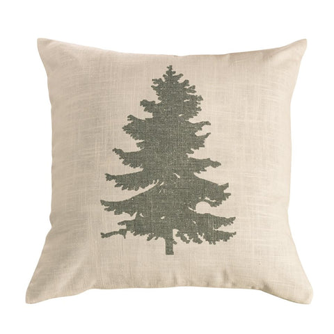 Pine Tree Linen Pillow HiEnd Accents - Unique Linens Online