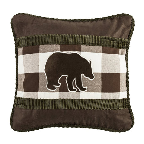 Brown Bear Pillow HiEnd Accents - unique linens online