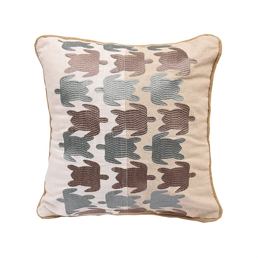 Blue and Brown Sea Turtles Pillow HiEnd Accents - unique linens online