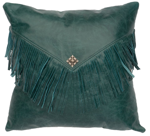 Leather Pillows Wooded River WD1443 - unique linens online