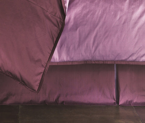 Profiles Silk Plum Bedskirt Mystic Valley Traders - unique linens online